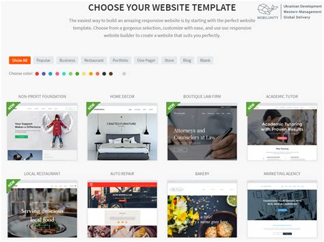 templates for building your own website find out where to build a free website mobilunity