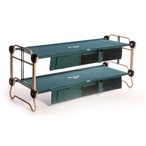 Large Bunk Bed Disc O Bed O Bunk Large Portable Bunk Bed With Organizers 283228 Cots At Sportsman S Guide