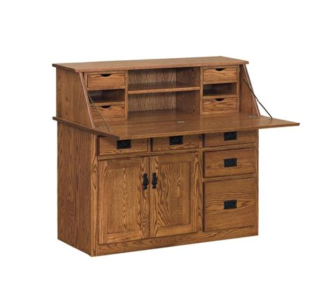 Amish Large Arts And Crafts Secretary Desk Amish Desk