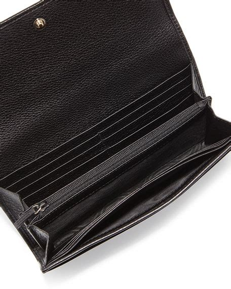 Sho Wallet gucci soho leather continental wallet black