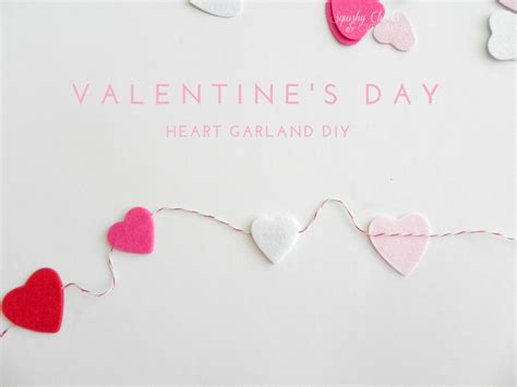 valentines day garland how to make a simple s day garland