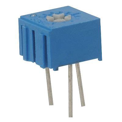 resistors jameco 3362p 1 105vp jameco valuepro resistor trimmer 1m ohm 10 1 2 watt 1 turn 2 77mm pin through