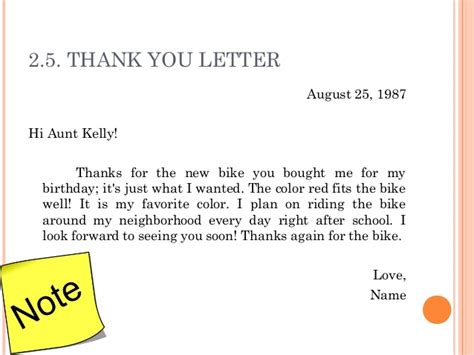 Thank You Letter Vacation 3 Letter Writing