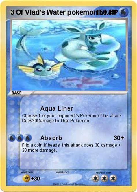 water type card template pok 233 mon 3 of vlad s water lv 48 48 aqua liner