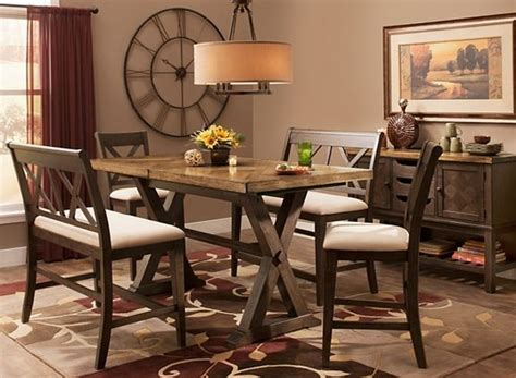 raymour and flanigan dining room wexford 5 pc counter height dining set w 2 benches