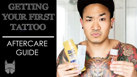 tattoo aftercare first day getting your first tattoo aftercare guide youtube