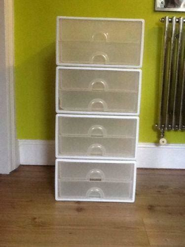 plastic stacking drawers storage solutions ebay