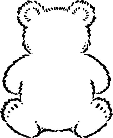 printable teddy template teddy outline printable clipart best