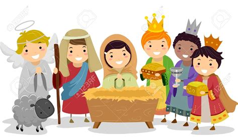 kids nativity clipart clipartxtras