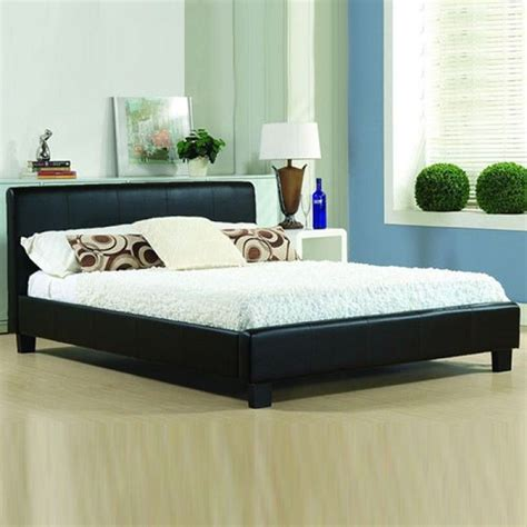 Affordable King Size Bed Frames Cheap Bed Frame King Size Leather Beds With Memory Foam Mattress Deal Ebay