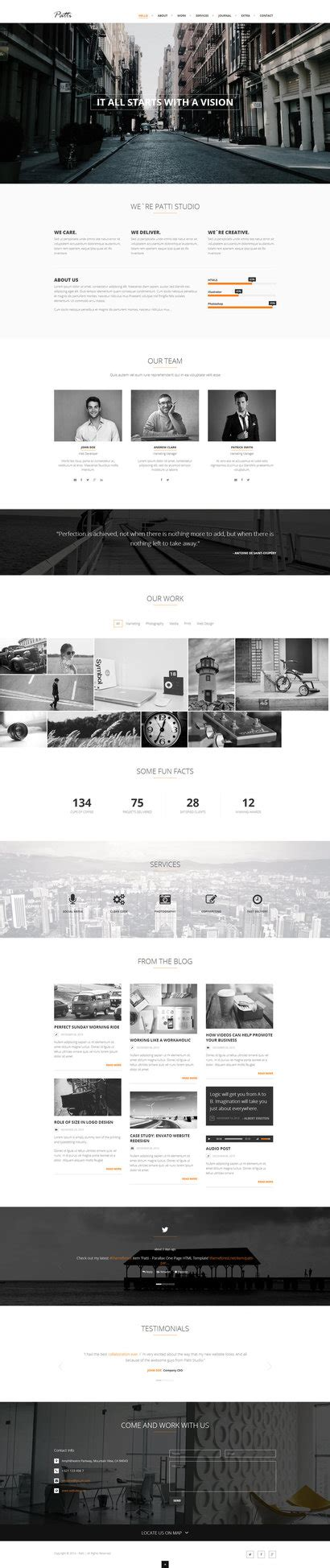 single page parallax template patti parallax one page html template by darkstalkerr on