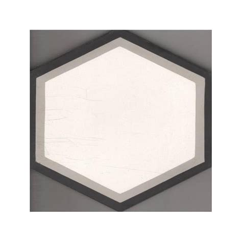 Wall Decoration 20cm X 20cm House vintage hexagon grey 20cm x 20cm wall floor tile