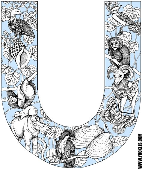 coloring pages letter u animals animals that start from letter u crafts