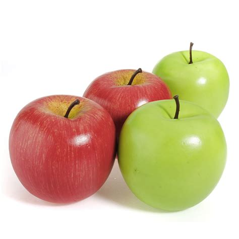 decorative fake apples home party decorative fake red green apples fruit