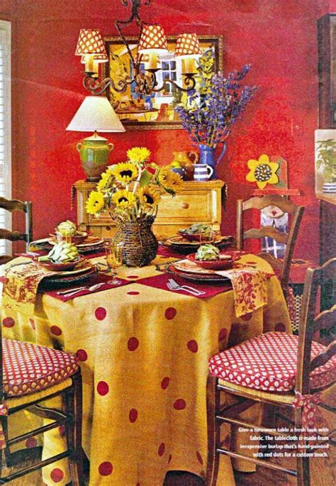 colorful red  yellow french country cheerful