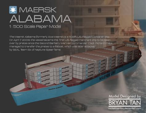 How To Make Paper Ship Model - mv maersk alabama papercraft papercraft paradise