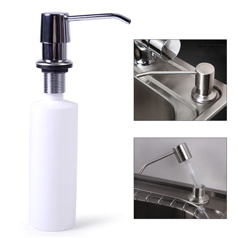 Kitchen Sink Soap Dispenser Bottle Kitchen Bathroom Sink Soap Lotion Dispenser Stainless Steel Abs Bottle Ebay