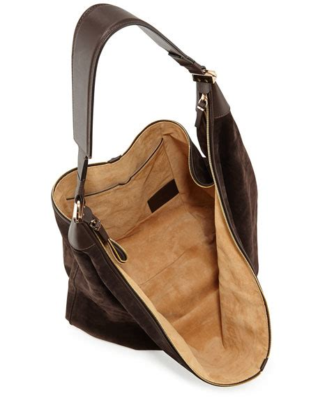 Castro Suede Sling Bag the row sling 15 suede hobo bag brown