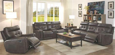 Trenton Motion Dark Grey Reclining Living Room Set 602064 Motion Living Room Furniture