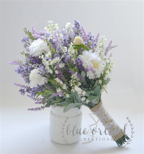 shabby chic bridal bouquet wildflower bridal bouquet rustic bouquet lavender