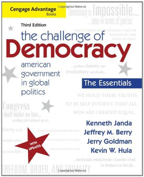 the challenge of democracy 9th edition biography of author kenneth janda booking appearances