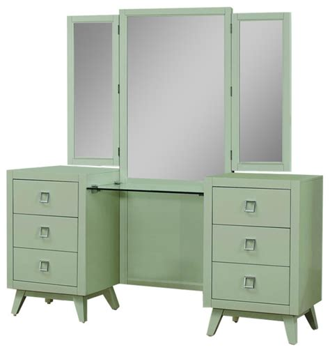 Gray Vanity Table by Homelegance Valpico Vanity Table And Mirror In Cool Gray