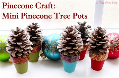 pine cone crafts pinecone crafts mini pinecone tree pots