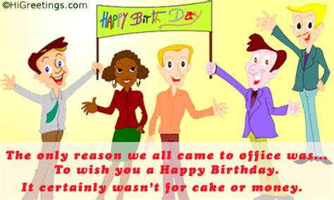 Happy Birthday Quotes For Office Colleagues Quotes Funny Birthday Ecard From Office Quotesgram