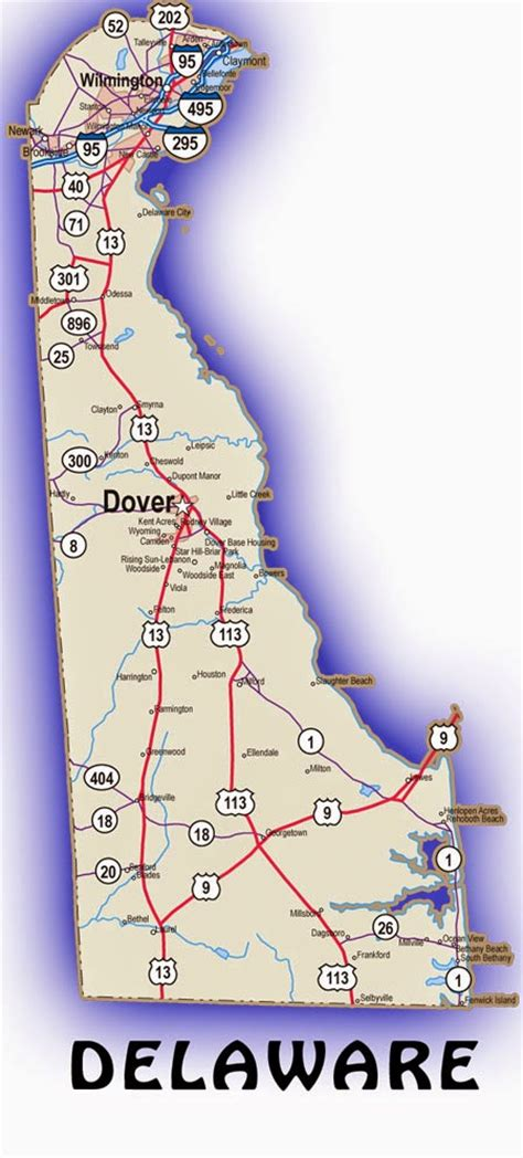 Printable Road Map Of Delaware | printable us state maps free printable maps