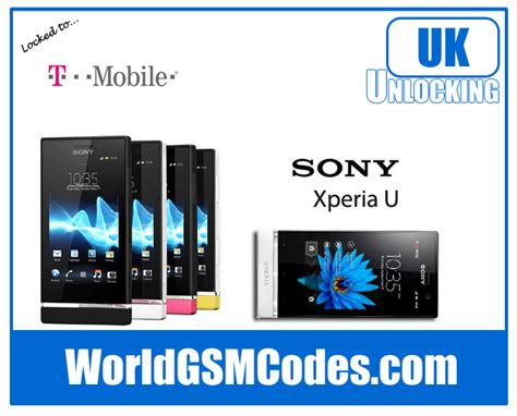 t mobile uk t mobile sony xperia u st25a unlocking code available to