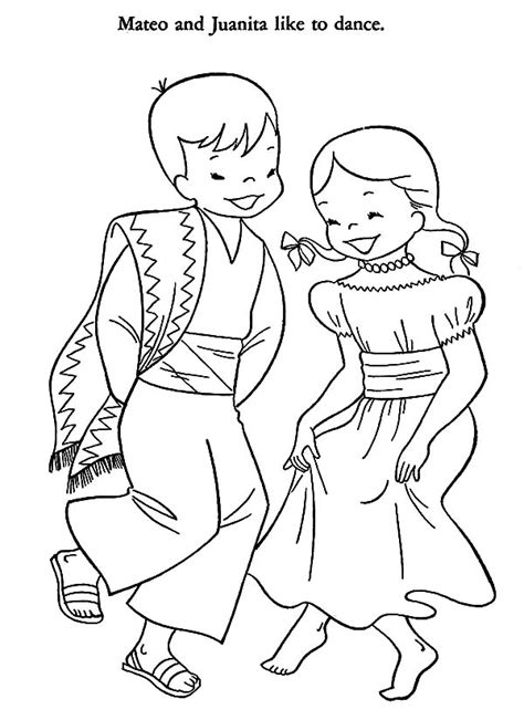 mexican coloring pages mexican dancers coloring page coloring coloring pages