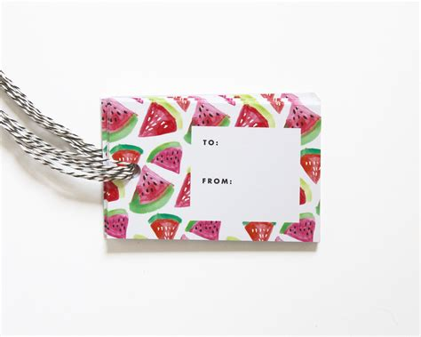 Buy Gift Cards In Bulk And Save - gift tags watermelon pattern set of 10 fine day press
