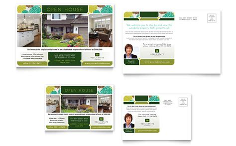 real estate postcard template design
