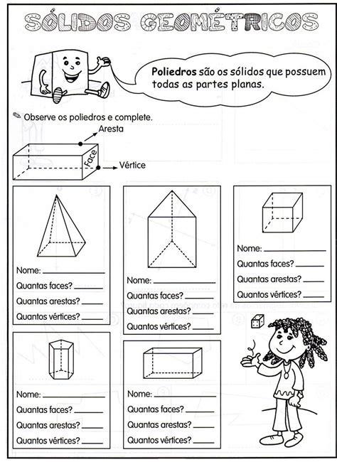 figuras geometricas quarto ano aprendendo sempre com prof 170 c 233 lia atividades e moldes
