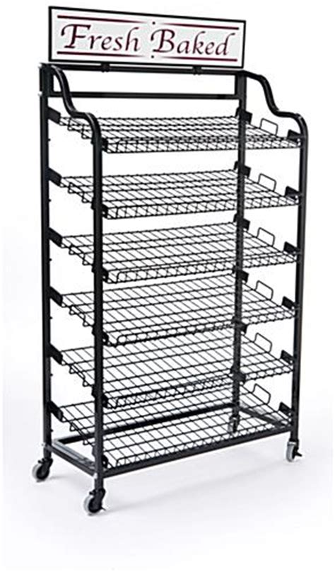 wire display shelves wire bakery display black finish custom header