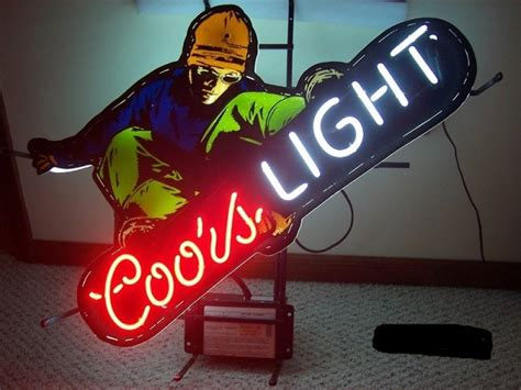 coors light snowboard price coors light snowboard neon sign