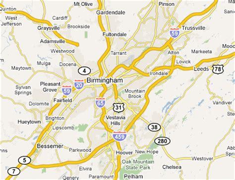 birmingham usa map birmingham metro area web design development firms on