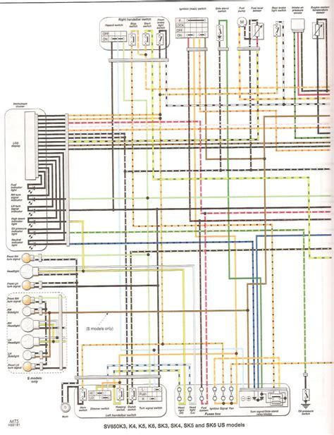 faq colored wiring diagram gt all sv650 models suzuki