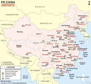 airports in map international airports in china map