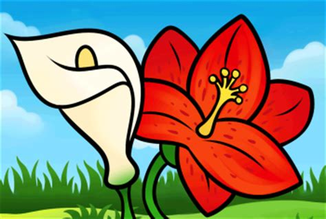 spring pictures to draw how to draw how to draw lilies for kids hellokids com