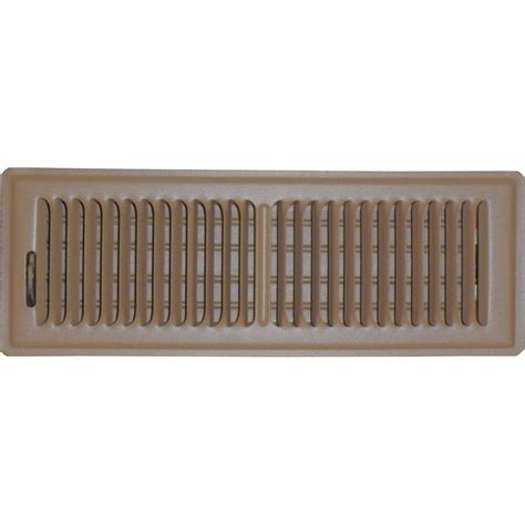 speedi grille 4 in x 12 in floor vent register brown