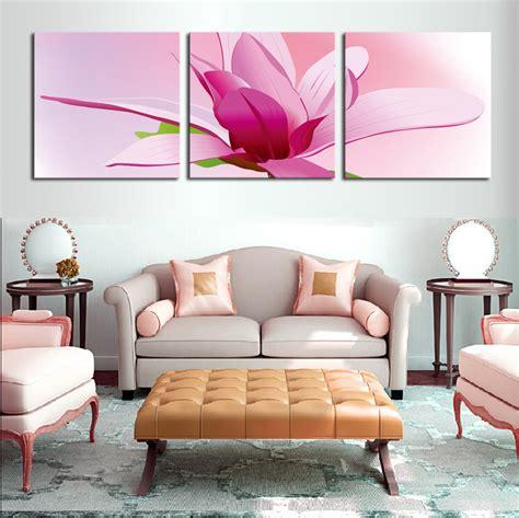 3 panel hd print cheap decorative flower abstract modern aliexpress com buy unframed 3 panels canvas oil wall art