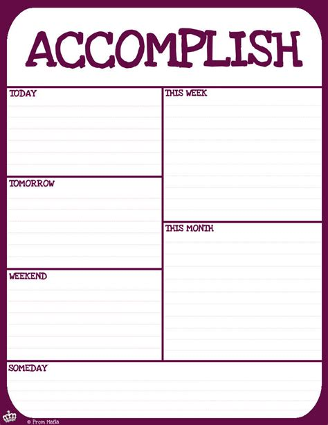 to do list schedule template free to do list