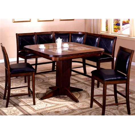 Corner Booth Dining Table Livingston Counter Height Dining Set By Leisure Select Counter Height Dining Family Leisure