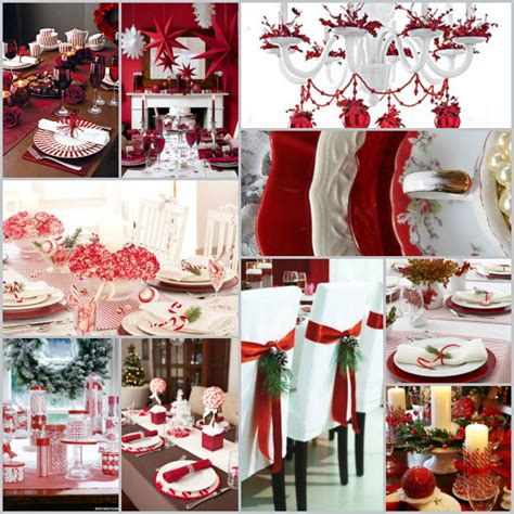 red and silver christmas table decorations christmas table settings round up 27 fabulous ideas