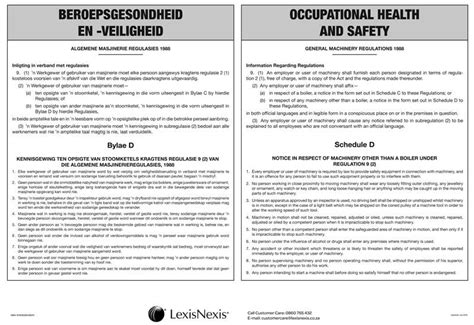 ohsa section 25 occupational health and safety act schedule d poster