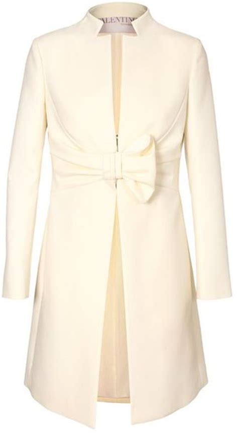 Erotokritos Oversized Bow Coat by Valentino Technowool Bow Coat In White Ivory Lyst