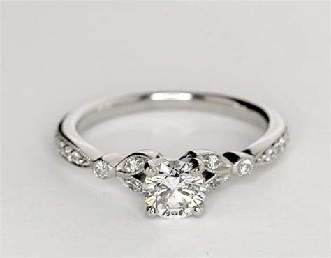 classic engagement ring in white gold real