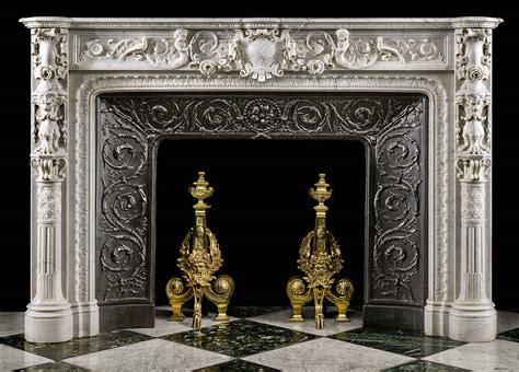 Italian Marble Fireplaces by Antique Italian Rococo Marble Fireplace Mantel