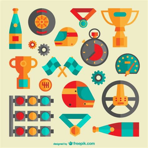 street racing design elements vector racing graphic elements vector free download